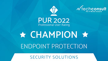 Techconsult: Professional User Rating Security Solutions 2021- DriveLock as champion in the solution area of endpoint protection