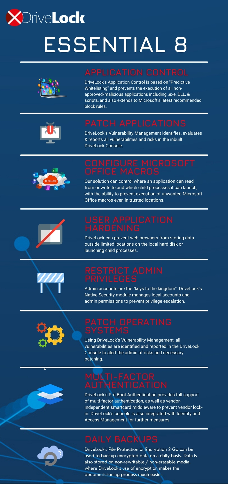 Essential 8 Infographic