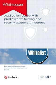 Security awareness and application control with predictive whitelisting