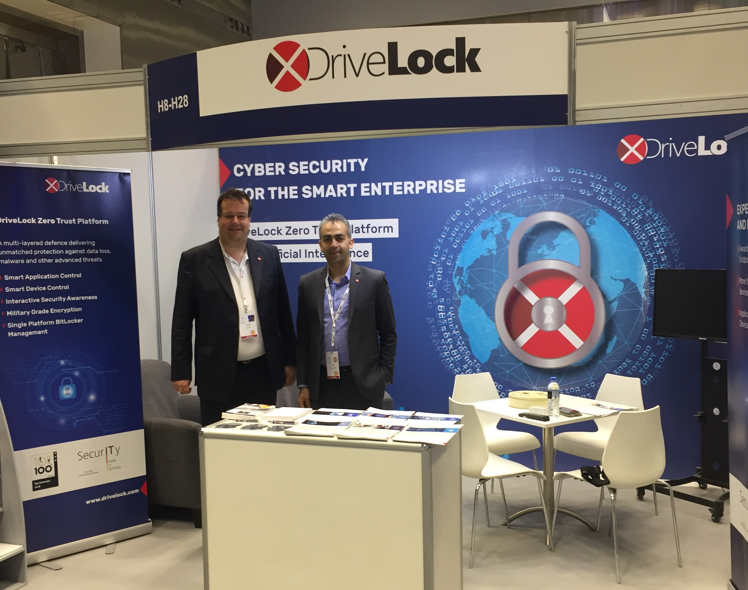 DriveLock exhibiting at Qitcom 2019 in Doha